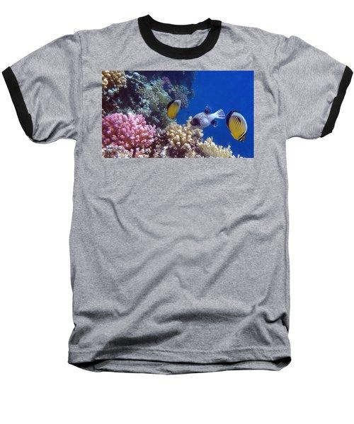 Colorful Red Sea Fish And Corals Baseball T-Shirt