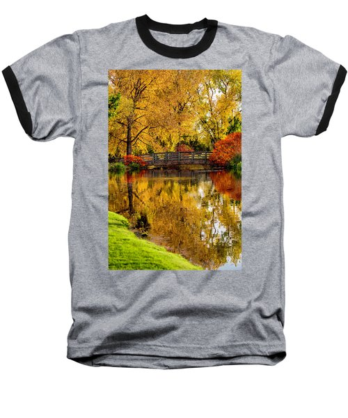 Baseball T-Shirt featuring the photograph Colorful Reflections by Kristal Kraft