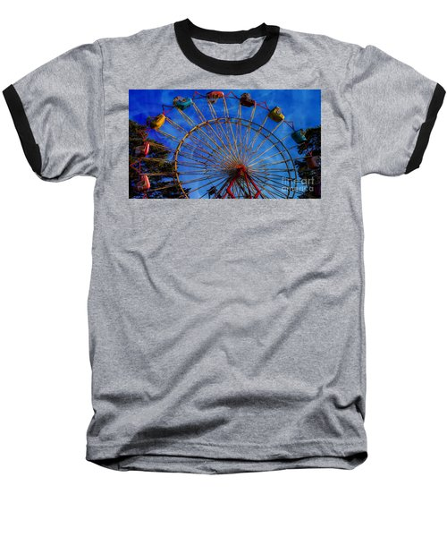 Colorful Ride Baseball T-Shirt by Sherman Perry