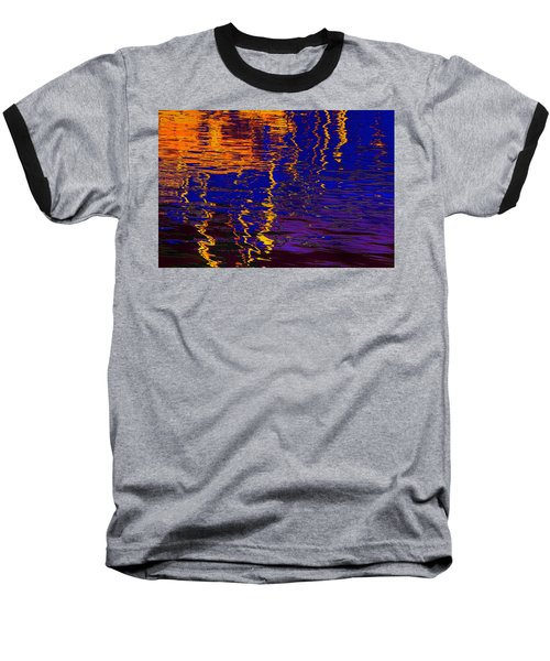 Colorful Ripple Effect Baseball T-Shirt