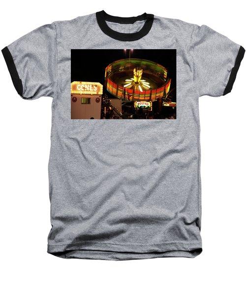 Colorful Round Up Wheel Baseball T-Shirt