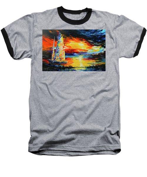 Colorful Sail Baseball T-Shirt