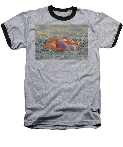 Baseball T-Shirt featuring the photograph Colorful Scallop Shells by Melanie Moraga