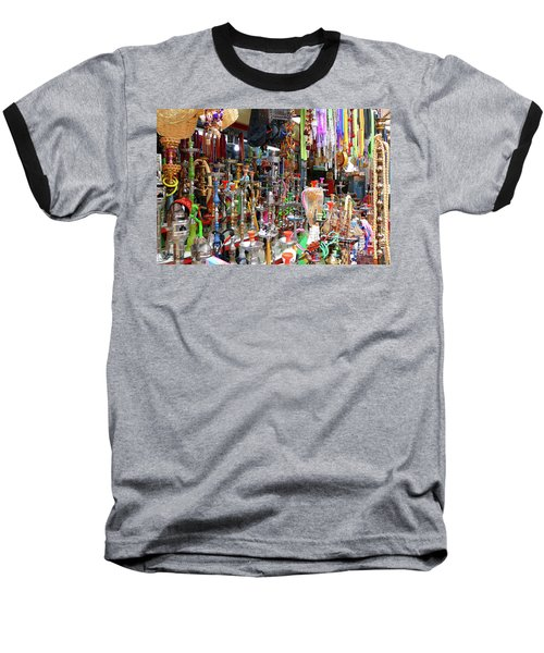Colorful Space Baseball T-Shirt by Arik Baltinester