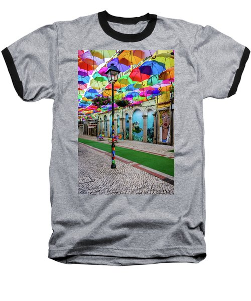Colorful Street Baseball T-Shirt by Marco Oliveira