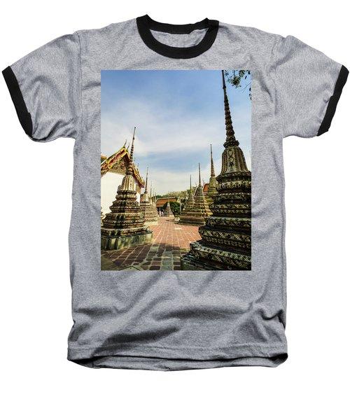Colorful Stupas At Wat Pho Temple Baseball T-Shirt