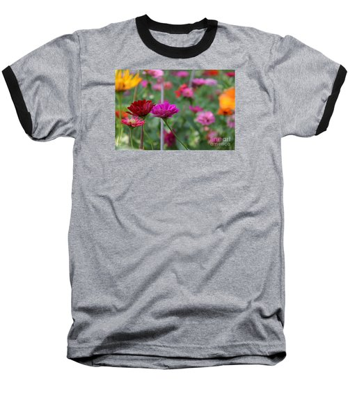 Baseball T-Shirt featuring the photograph Colorful Summer by Yumi Johnson
