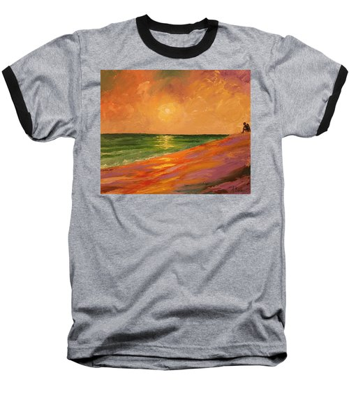 Colorful Sunset Baseball T-Shirt