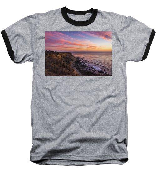 Colorful Sunset At Golden Cove Baseball T-Shirt