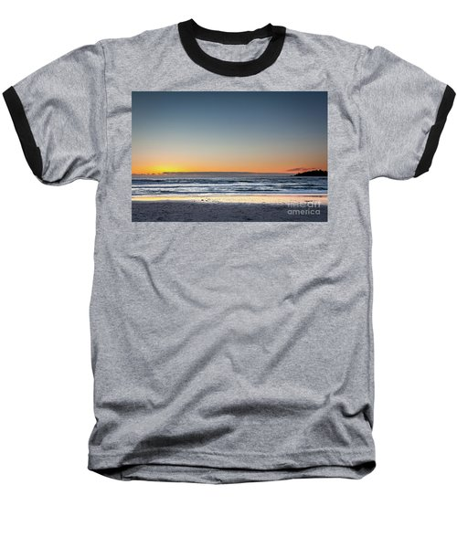 Colorful Sunset Over A Desserted Beach Baseball T-Shirt