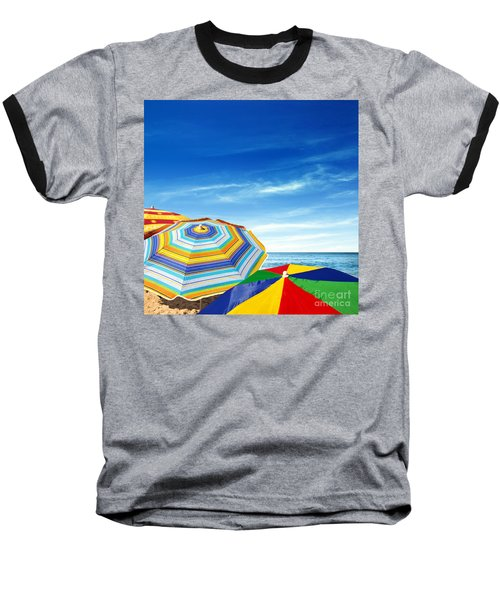 Colorful Sunshades Baseball T-Shirt by Carlos Caetano