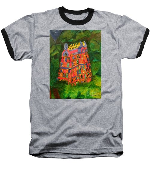 Colorful Temple Gopuram Baseball T-Shirt by Brindha Naveen