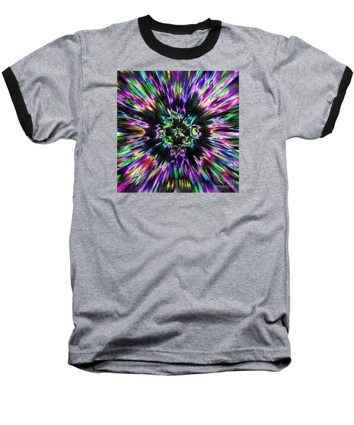 Colorful Tie Dye Abstract Baseball T-Shirt