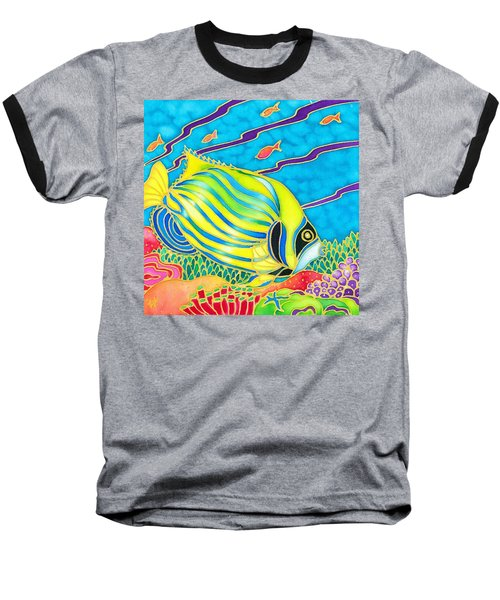 Baseball T-Shirt featuring the painting Colorful Tropics 10 by Hisayo Ohta