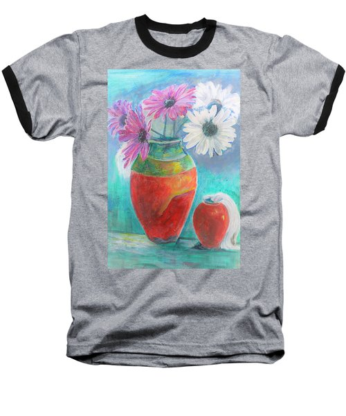 Colorful Vases And Flowers Baseball T-Shirt