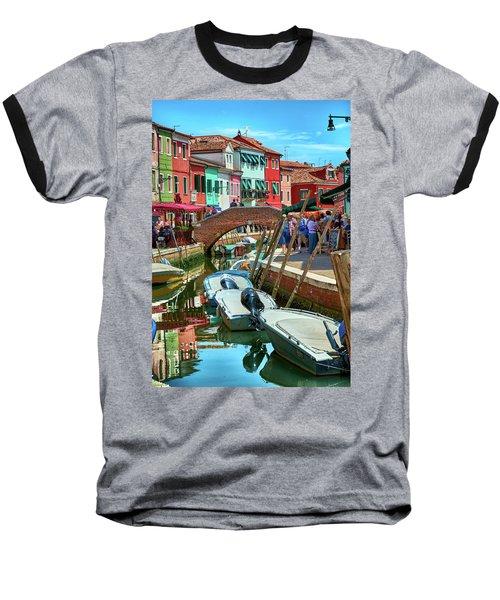 Colorful View In Burano Baseball T-Shirt