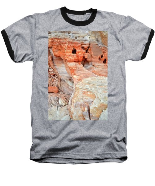Baseball T-Shirt featuring the photograph Colorful Wall Of Sandstone In Valley Of Fire by Ray Mathis
