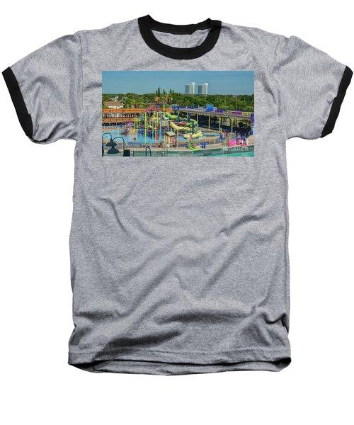 Colorful Water Park Baseball T-Shirt