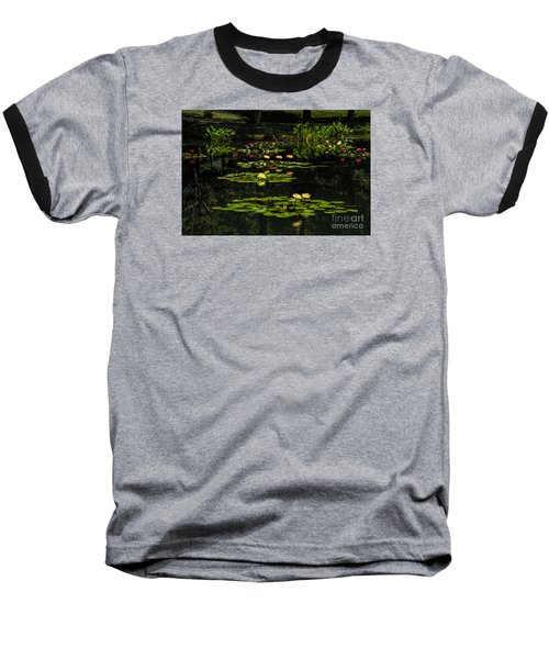 Baseball T-Shirt featuring the photograph Colorful Waterlily Pond by Barbara Bowen