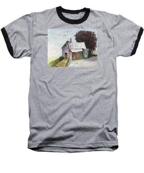 Colorful Weathered Barn Baseball T-Shirt