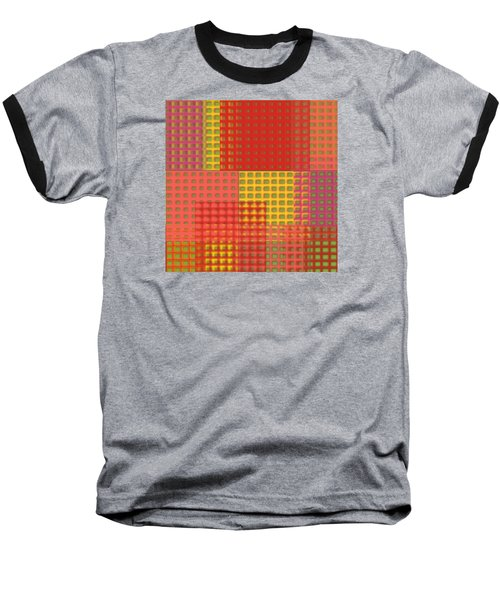 Colorful Weave Baseball T-Shirt by Bonnie Bruno