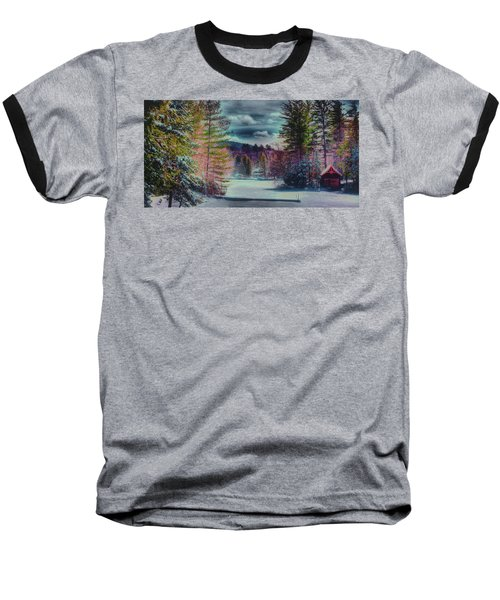 Baseball T-Shirt featuring the photograph Colorful Winter Wonderland by David Patterson