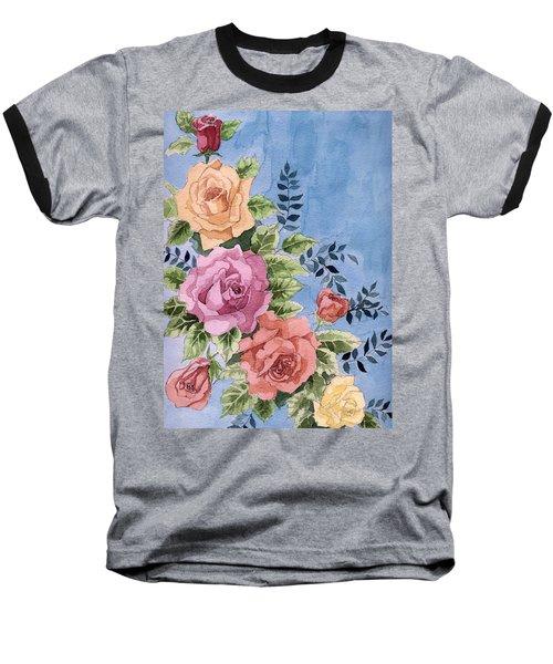 Colorfull Roses Baseball T-Shirt