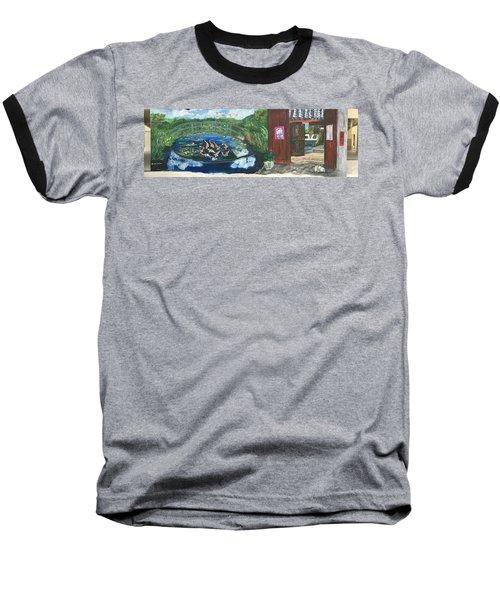 Coloring Holland V - Wall Three Baseball T-Shirt