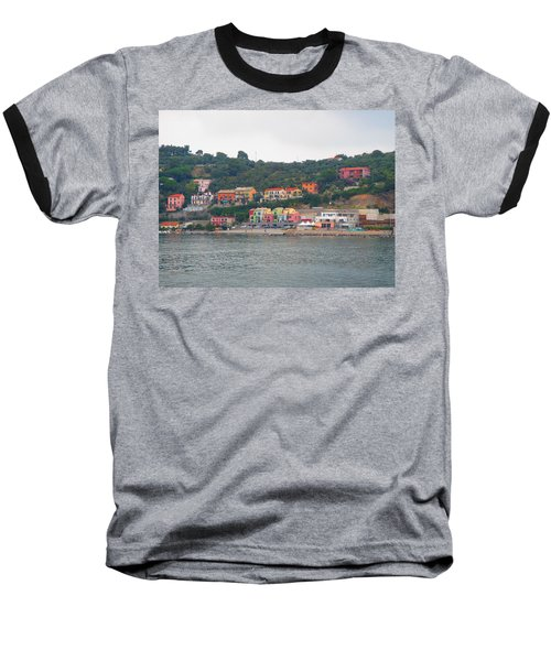 Colors Along The Coast Baseball T-Shirt by Christin Brodie