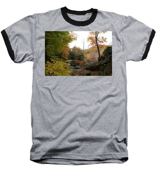 Colors Along The Stream Baseball T-Shirt by Lois Lepisto