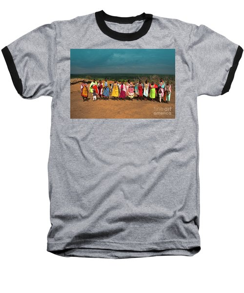 Baseball T-Shirt featuring the photograph Colors And Faces Of The Masai Mara by Karen Lewis