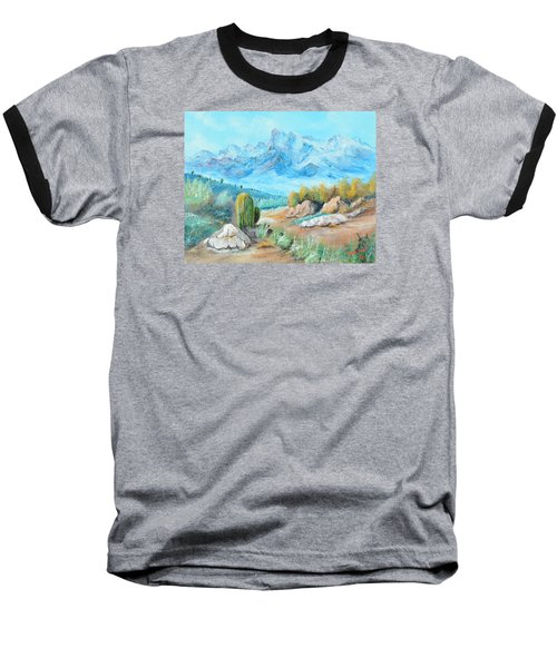 Colors In The High Desert Baseball T-Shirt by Lloyd Dobson
