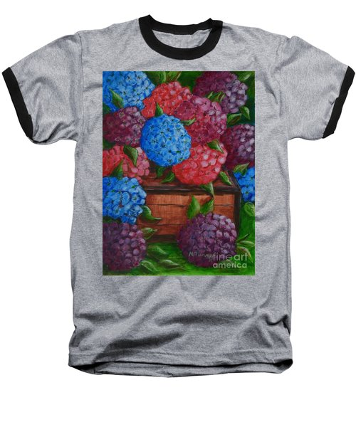Baseball T-Shirt featuring the painting Colors by Melvin Turner
