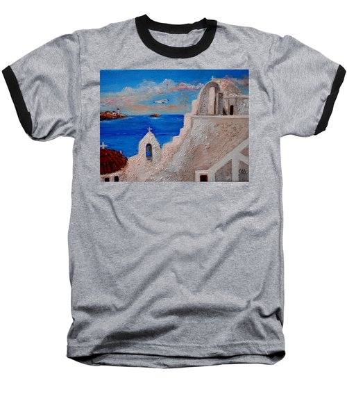 Colors Of Greece Baseball T-Shirt