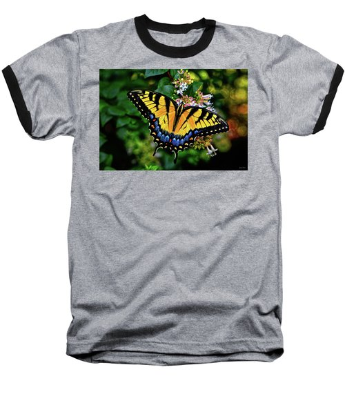 Baseball T-Shirt featuring the photograph Colors Of Nature - Swallowtail Butterfly 003 by George Bostian