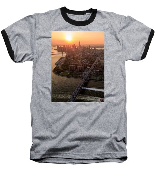 Colors Of Ny Baseball T-Shirt by Anthony Fields