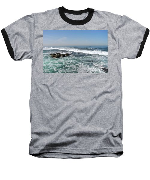 Baseball T-Shirt featuring the photograph Colors Of The Sea by Carol  Bradley