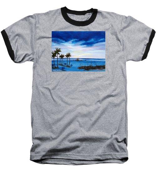 Colors On The Gulf Baseball T-Shirt by Lloyd Dobson