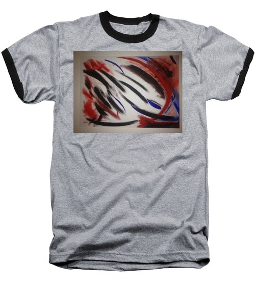 Baseball T-Shirt featuring the painting Abstract Colors by Sheila Mcdonald