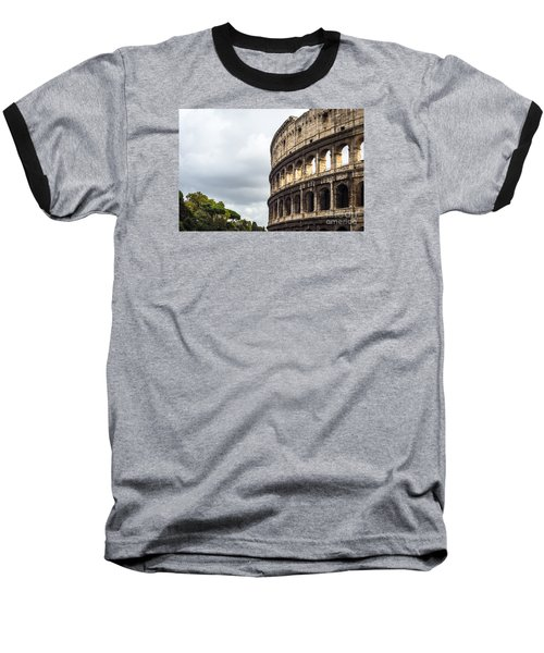 Colosseum Closeup Baseball T-Shirt