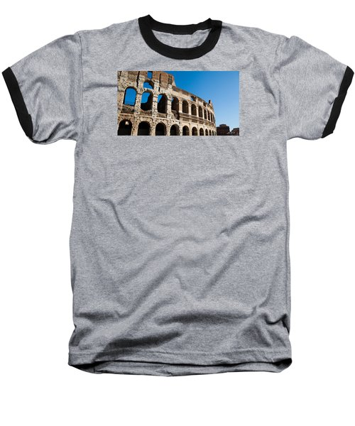 Colosseum - Old And New Baseball T-Shirt by Ed Cilley