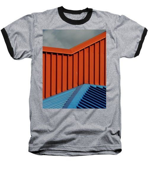 Coloured Corrugations 1 Baseball T-Shirt