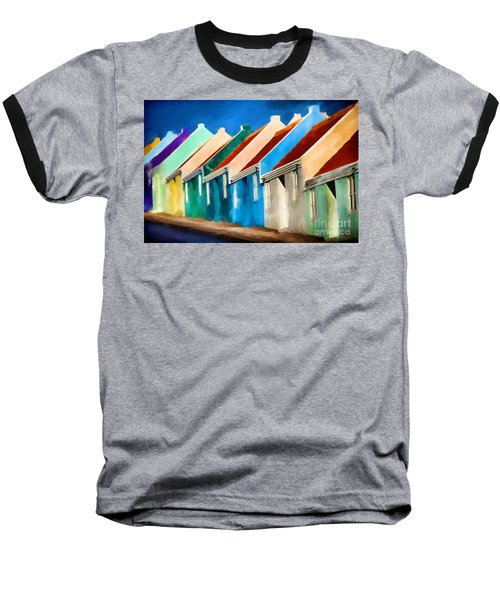 Coloured Baseball T-Shirt by Jim  Hatch