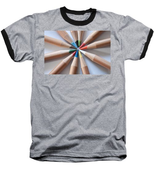 Coloured Pencils 2 Baseball T-Shirt