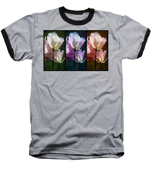 Coloured Tulips Baseball T-Shirt
