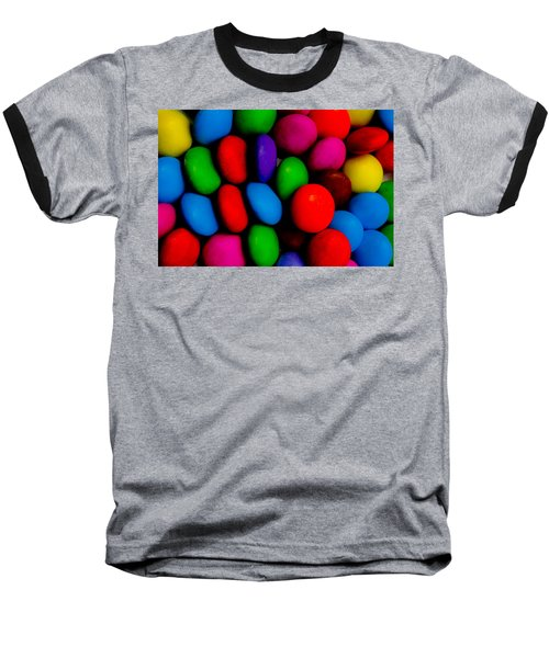Colourful Abstract Baseball T-Shirt