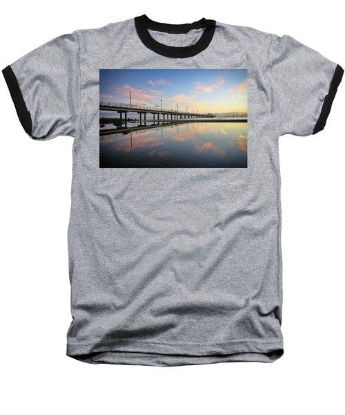 Colourful Cloud Reflections At The Pier Baseball T-Shirt