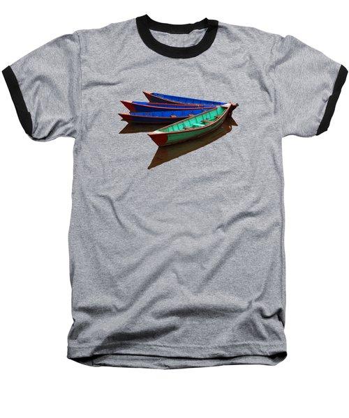 Nepalese Fishing Boats  Baseball T-Shirt