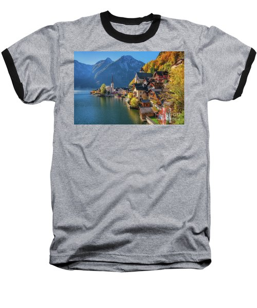 Colourful Hallstatt Baseball T-Shirt by JR Photography