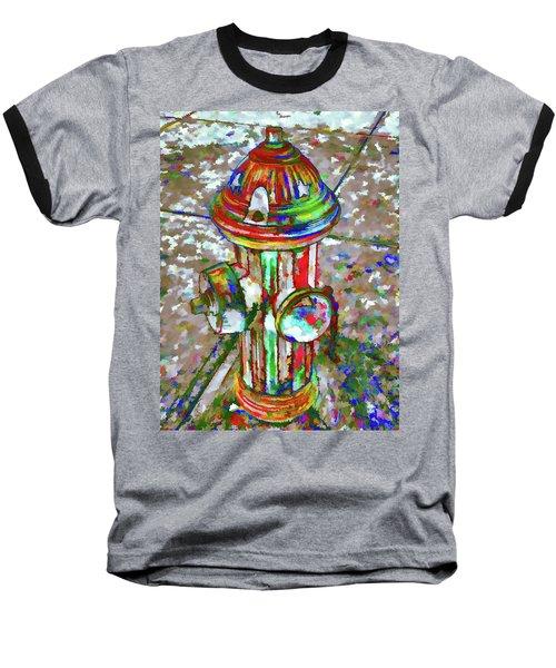 Colourful Hydrant Baseball T-Shirt